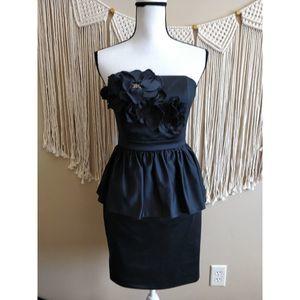 Lilly Pulitzer Black Peplum Strapless Mini Dress 2